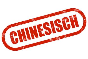 Grunge Stempel rot CHINESISCH