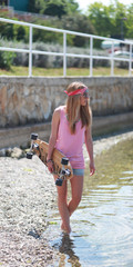 Longboard Beach Girl