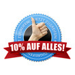 10% auf alles! Button, Icon