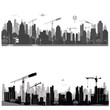 Vector illustration.City skyline.Construction