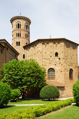 The Neonian Baptistery and the Dome round bell tower