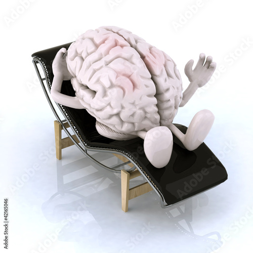 brain that rests on a chaise longue
