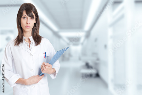 Female young healthcare professional at the hospital