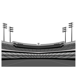 Stadium background . Vector illustration.