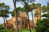Saint Apollinare in Classe Basilica, view from the back yard.
