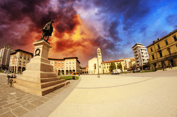 Dramatic Sky above Piazza Vittorio Emanuele in Pisa