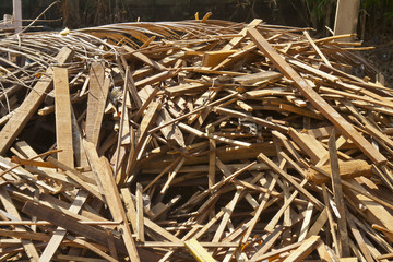 The garbage dump of wood