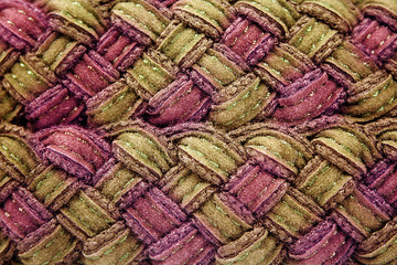 Fabric detail - green and pink
