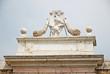 Ravenna,medieval city door Porta Pamphilia Pope symbols