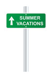 Summer vacations sign. Vector illustration