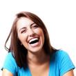 pretty woman laughing