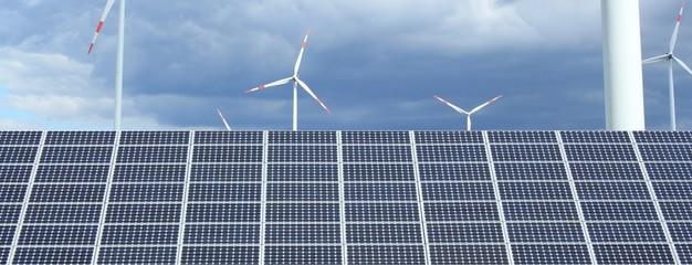 Sonnen und Windenergie
