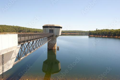 canvas print picture Water storage dam Australia