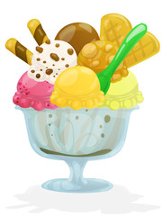 big fresh icecream. clipping path included