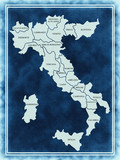 Italy map on the old texture