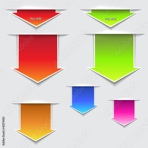 3D Pull Arrows, Stickers