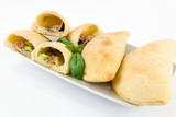 calzone stuffed with vegetables