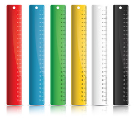 Set of colorful rulers
