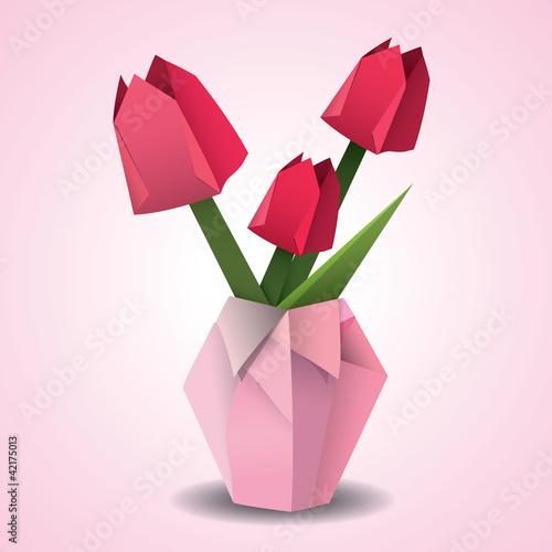 简易折纸花瓶大全图解
