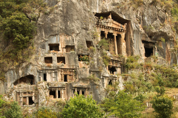 Lycian Rock nTombs Near Fethiye Turkey