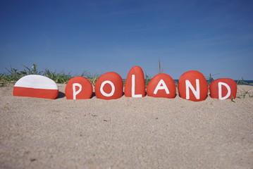 Poland, east Europe country, souvenir on stones