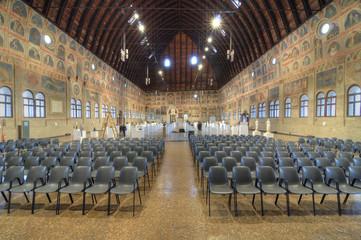 Palazzo della Ragione Interior, Padua, Italy.