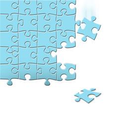 落ちるジグソーパズル