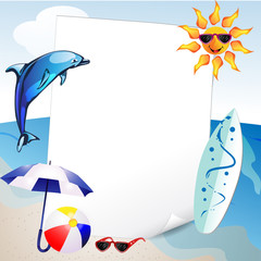 Summer and sea background