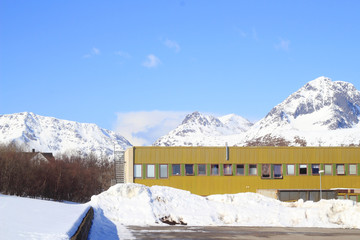 Green building of Gravdal in Lofoten