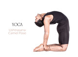 Yoga ushtrasana camel pose