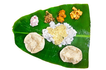 Indian veg thali on white