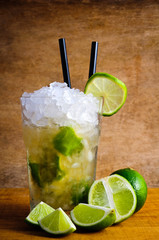 Caipirinha cocktail drink