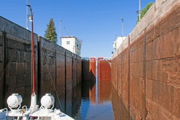 Sluice of the channel Volga-Don Lenin's name