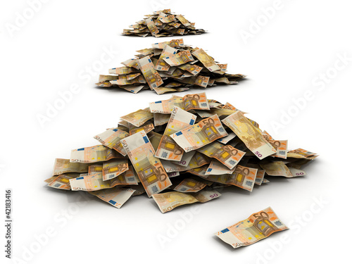 huge pile of european money