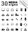 30 Media Symbols