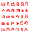 Red icon stickers