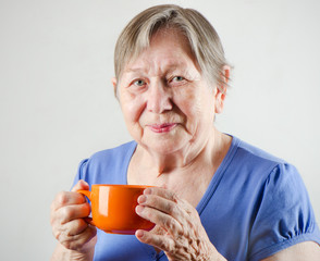 Woman with tea cup