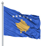Waving flag of Kosovo poster