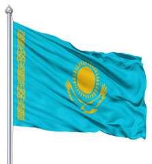 Waving flag of Kazakhstan