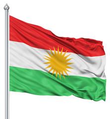 Waving flag of Kurdistan