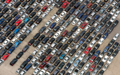 Rows of Cars