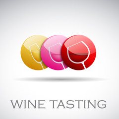 Logo Wine Tasting # Vector
