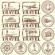 travel stamp, mark