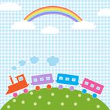 Train and rainbow