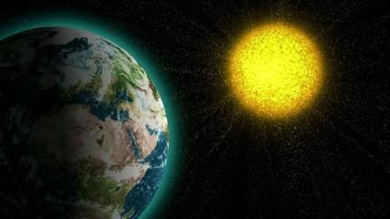 Sun bombards the Earth