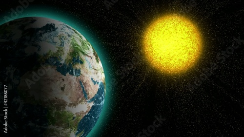 Sun bombards the Earth