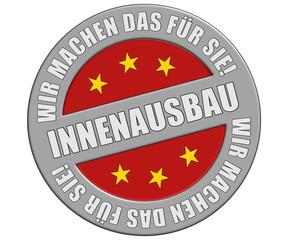 Schild grau rot rund rt WMDFS INNENAUSBAU