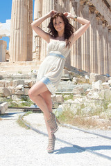 The woman at the Acropolis