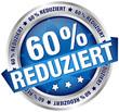"""Button Banner """"60% reduziert"""" blau/silber"""