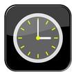 Glossy Button schwarz - 3:00 Uhr / 15:00 Uhr